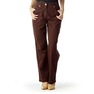 St. John Sport Brown Straight Leg Cotton Jeans